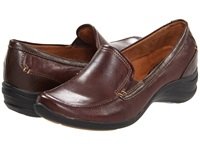 Hush Puppies Epic Loafer Dark Brown Leather Women's Slip On Shoes