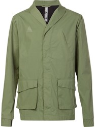 Brandblack Shawl Lapel Jacket Green