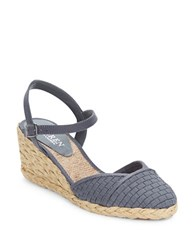 Lauren Ralph Lauren Capricia Woven Wedges Grey