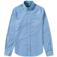 Gitman Brothers Vintage Iridescent Chambray Shirt Blue
