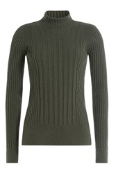 Maison Martin Margiela Turtleneck With Wool And Cashmere Green