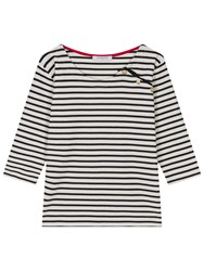 Gerard Darel Taylor Striped T Shirt Beige Navy