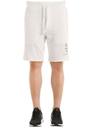 Y 3 Slim Graphic French Terry Sweat Shorts White