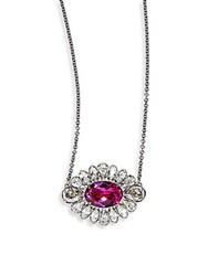 Swarovski Crystal Flower Pendant Necklace Silver