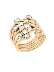 Michael Kors Modern Brilliance Crystal Ring Goldtone