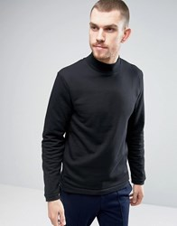 Casual Friday Sweatshirt With High Neck Black