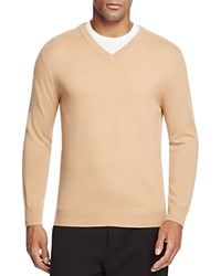 Bloomingdale's The Men's Store At Cashmere V Neck Sweater Camel
