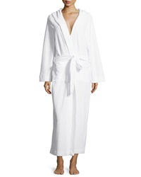 Hanro Long Hooded Plush Robe White