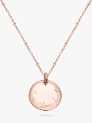 Merci Maman Personalised Edge Charm Pendant Necklace Rose Gold