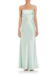 Abs By Allen Schwartz Bias Cut Slip Gown Mint