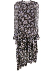 Zimmermann Floral Shift Dress Women Silk 3 Black