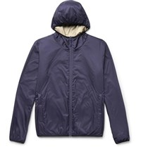 Aspesi Reversible Shell Hooded Jacket Navy