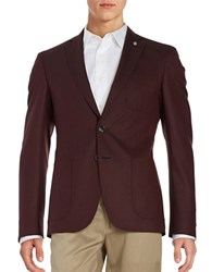 Hugo Two Button Patch Pocket Jacket Red