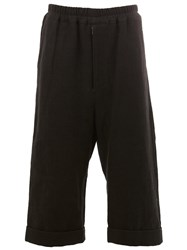 By Walid Cropped Trousers Black