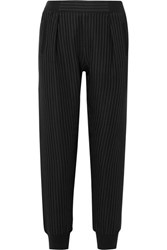 Atm Anthony Thomas Melillo Pinstriped Crepe Track Pants Black