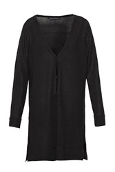 French Connection Spring Light Knits Longline Cardigan Black
