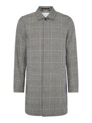 Peter Werth Men's Twyford Tower Prince Of Wales Check Mac Grey
