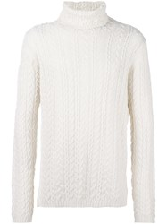 Paolo Pecora High Neck Jumper White