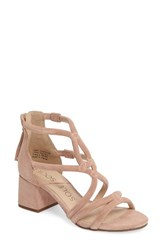 Sole Society Women's Jenina Block Heel Sandal Peachy Keen