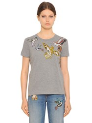 Red Valentino Bird Printed Cotton Jersey T Shirt