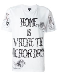 Armani Jeans 'Home Is Where The Anchor Drops' T Shirt White
