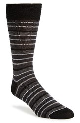 Bugatchi Men's 'Pop' Stripe Socks Charcoal