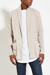 Forever 21 French Terry Cardigan Beige