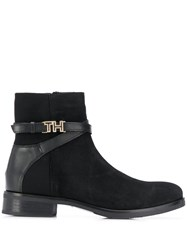 Tommy Hilfiger Hardware Detail Ankle Boots Black
