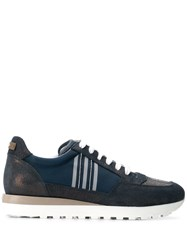 Peserico Contrast Low Top Sneakers Blue