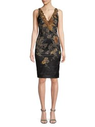 Mandalay Floral Embroidery Sleeveless Dress Black