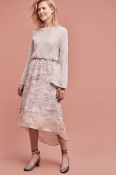 Anthropologie Rosay Sweater And Slipdress Set Light Grey