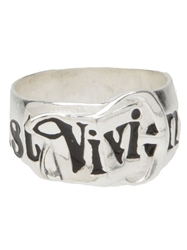 Vivienne Westwood Thick Band Ring Metallic