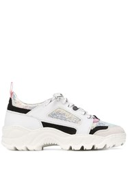D.A.T.E. Chunky Lace Up Sneakers White