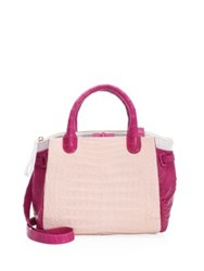 Nancy Gonzalez Cristina Leather Satchel Pink
