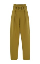 Emilio Pucci High Waisted Belted Pants Green