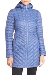 The North Face Women's Thermoball Tm Primaloft Hooded Parka Coastal Fjord Blue