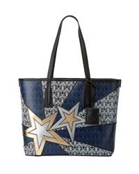 Liberty London Little Marlborough Stars Tote Bag Black Pattern