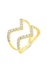 Women's Bony Levy Stackable Geometric Diamond Ring Yellow Gold