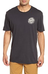 Rip Curl Vintage Wettie Heritage T Shirt Charcoal