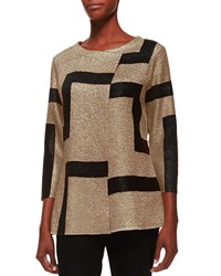 Berek 3 4 Sleeve Abstract Modern Jacket Gold Gold Black