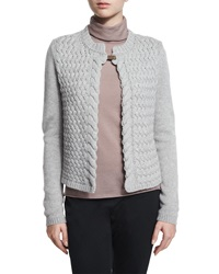 Peserico Cable Knit Cardigan With Tab Closure