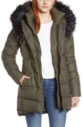 The North Face Hey Mama Water Repellent 550 Fill Power Down Parka With Faux Fur Trim New Taupe Green