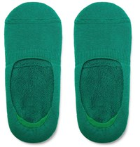 Anonymous Ism Cotton Blend No Show Socks Green