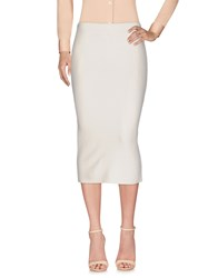 Compagnia Italiana 3 4 Length Skirts Ivory