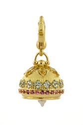 Paul Morelli 18K Yellow Gold White Diamonds 0.84 Cts Aqua Mop Multi