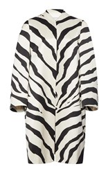 Lanvin Zebra Cotton Blend Coat Print