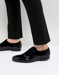 House Of Hounds Side Lace Patent Oxford Shoes Black
