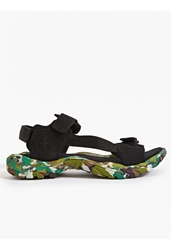 Stone Island Men's Camouflage Suede Sandal