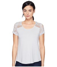 Aventura Clothing Wyatt Short Sleeve High Rise Women's Short Sleeve Pullover Silver