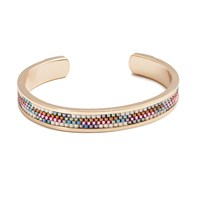 Azuni London Nacona Narrow Bangle In Sunset Gold